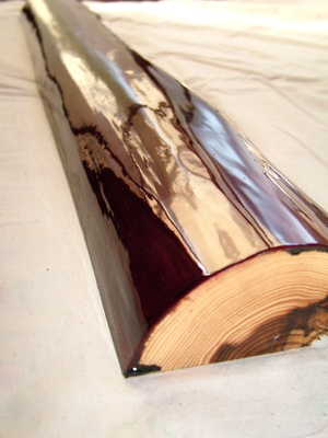 漆塗り 住空間 床柱 春慶塗り
