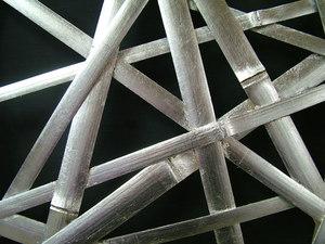 総銀箔 竹やたら編みパーテーション 上海万博製品