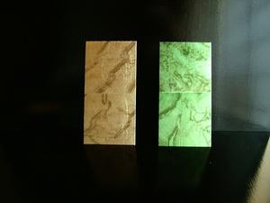 店舗内装 ディスプレイ 銀箔サンプル