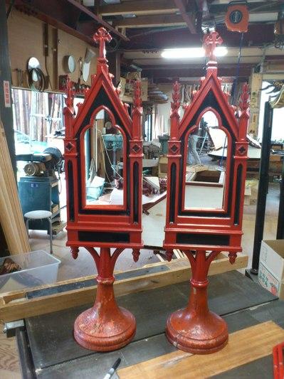 河原町三条教会 漆塗り製品 修理ビフォー
