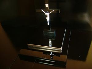 漆塗り十字架 特注メシアモデルプラチナ箔加工