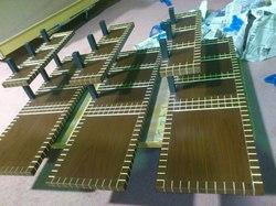 店舗什器 ディスプレイ台金箔加工